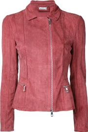 Desa Collection , Zipped Jacket Women Suede 36, Pinkpurple