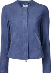 Desa Collection , Zipped Jacket Women Suede 42, Blue