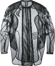 Di Liborio , Mesh Patch Shirt Jacket Men Silkpolyester 50, Black