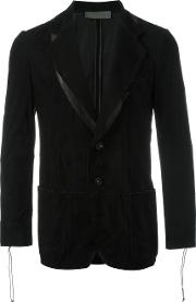 Di Liborio , Panelled Blazer Men Suede 48, Black