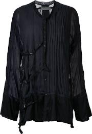 Di Liborio , Pleated Shirt Men Cotton 52, Black