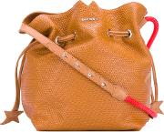 Diesel , Bucket Bag Women Cottonbuffalo Leathermetal One Size, Brown