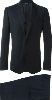 Dolce & Gabbana , Embroidered Two Piece Dinner Suit Men Cuproviscosevirgin Wool 52, Blue