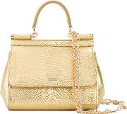 Dolce & Gabbana , Small 'sicily' Tote Women Calf Leather One Size, Grey