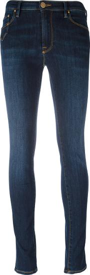 Dont Cry , Don't Cry Super Skinny Jeans Women Cottonpolyesterspandexelastane 32, Blue