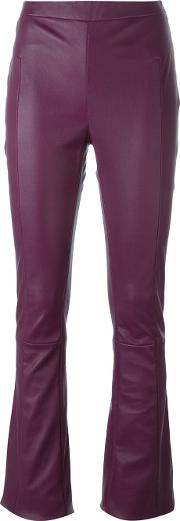 Drome , Flared Leather Trousers Women Leather S, Pinkpurple