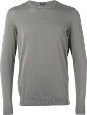 Drumohr , Crew Neck Jumper Men Cotton 54, Grey