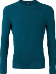 Drumohr , Crew Neck Top Men Cottonpolyamide 46, Blue