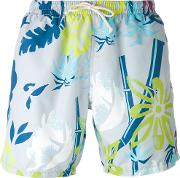 Drumohr , Printed Swim Shorts Men Polyester L, Grey