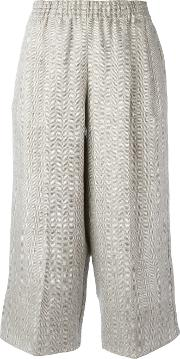 Dusan , Cropped Trousers Women Linenflax M, Grey