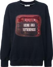 Each X Other , Other 'being And Nothingness' Sweatshirt Women Cotton S, Women's, Black