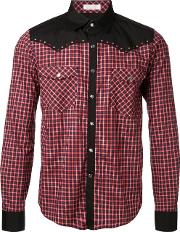 Education From Youngmachines , Checked Shirt Men Cotton 2, Red