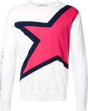 Education From Youngmachines , Star Jumper Men Cottonlinenflax 3, White