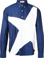 Education From Youngmachines , Star Print Shirt Men Cotton 2, Blue