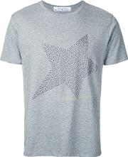 Education From Youngmachines , Studded Star T Shirt Men Cotton 3, Grey