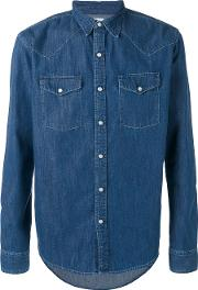 Edwin , Denim Shirt Men Cotton L, Blue