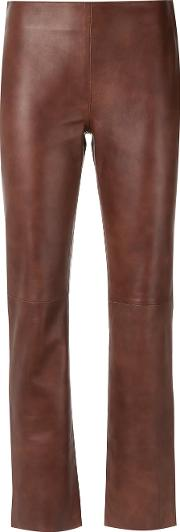 Egrey , Leather Trousers Women Leather 36, Brown