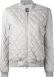 Eleventy , Quilted Bomber Jacket Women Cottonsilkpolyester S, Grey