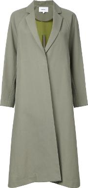 Enfold , Single Breasted Coat Women Cottonpolyester 38, Green