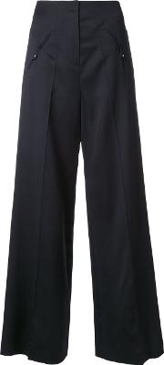 Esteban Cortazar , Low Waist Straight Trousers Women Viscosevirgin Wool 38, Black
