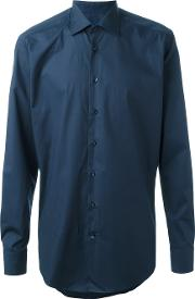Etro , Classic Shirt Men Cottonspandexelastane 39, Blue