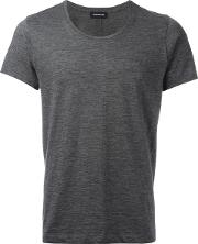 Exemplaire , Plain T Shirt Men Cashmere M, Grey