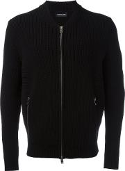 Exemplaire , Zip Up Cardigan Men Cashmere L, Black