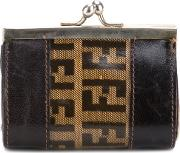 Fendi Vintage , Monogram Wallet Women Plastic One Size, Brown