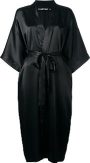 Filles A Papa , 'please Insert Money' Kimono Coat Women Silk 1, Black