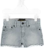Finger In The Nose , Frayed Denim Shorts Kids Cottonspandexelastane 8 Yrs, Grey