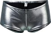 Folies By Renaud , Metallic Grey Briefs Women Nylon L