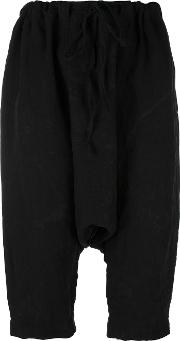 Forme Dexpression , Forme D'expression Cropped Drop Crotch Trousers Women Linenflax M, Black
