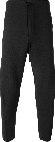 Forme Dexpression , Forme D'expression Drop Crotch Trousers Men Cotton L, Grey