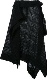 Forme Dexpression , Forme D'expression 'kerchief' Skirt Women Wool 40, Black