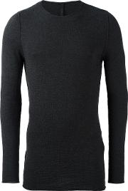 Forme Dexpression , Forme D'expression Textured Crew Neck Jumper Men Virgin Wool L, Grey