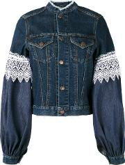 Forte Couture , Athos Lace And Denim Jacket Women Cottonpolyester 40, Blue