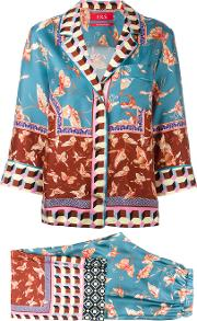 Frs For Restless Sleepers , F.r.s For Restless Sleepers Butterfly Print Trouser Suit Women Silk Xs