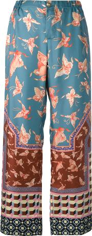 Frs For Restless Sleepers , F.r.s For Restless Sleepers Flared Printed Pants Women Silk M, Women's, Blue