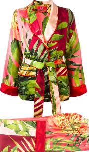Frs For Restless Sleepers , F.r.s For Restless Sleepers Floral Print Suit Women Silk L, Red