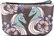 Furla , Printed Make Up Bag Women Leather One Size, Pinkpurple