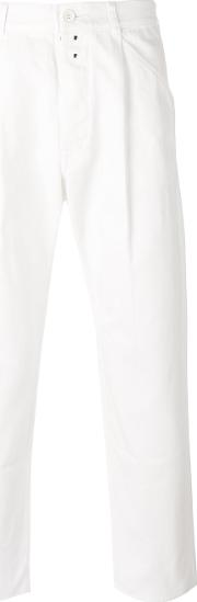 Ganryu Comme Des Garcons , Regular Trousers Men Cotton L, White
