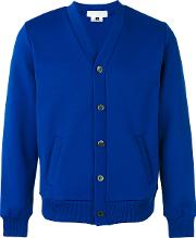 Ganryu Comme Des Garcons , V Neck Cardigan Men Polyester S, Blue