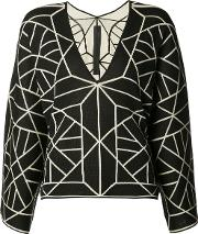 Gareth Pugh , Knitted Long Sleeve T Shirt Women Silkcotton One Size, Black
