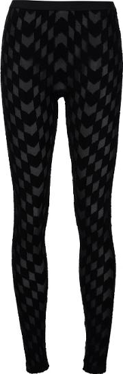 Gareth Pugh , Woven Leggings Women Nylonspandexelastaneviscose 42, Black