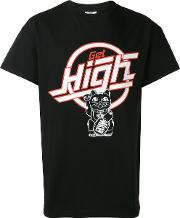 Gcds , 'get High' Print T Shirt Men Cotton M, Black