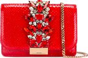 Gedebe , Embellished Crossbody Bag Women Leathermetal Other Glass One Size, Women's, Red