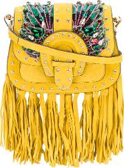Gedebe , Embroidered Tote Women Suedeacrylicpvcglass One Size, Yelloworange