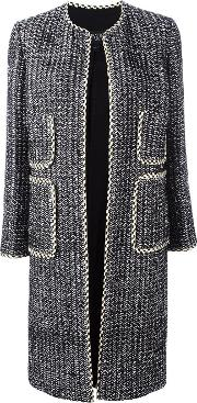 Giambattista Valli , Patch Pocket Open Coat Women Silkcottonpolyesterviscose 48, Black