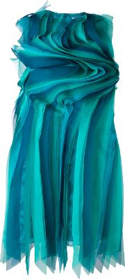Gianluca Capannolo , Contoured Frill Dress Women Silk 42, Blue