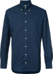 Gitman Vintage , Classic Shirt Men Cotton S, Blue